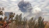 Мощный взрыв сотряс весь Донецк, над городом – огромный столб дыма