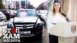 Алина Зотя, неправильно припарковавшись, создала затор на дороге