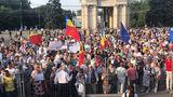 В центре Кишинева прошел массовый протест
