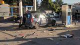 В Кишиневе автомобиль такси взорвался во время заправки газом
