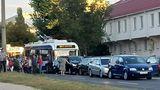 Цепное ДТП на Телецентре: столкнулись четыре машины и троллейбус