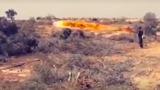 Египетские военные сожгли советскими огнеметами кусты боевиков ИГ