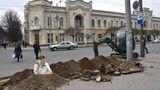 Кишиневцы иронизируют над очередной траншеей на бульваре Штефана чел Маре