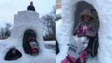 Американец построил снежный дом для дочери-инвалида и прославился