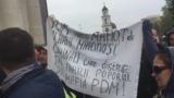 В Кишиневе у Арки победы прошел стихийный контрпротест
