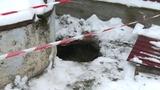 Возле нескольких домов в Сынжере появился огромный кратер