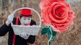 """В столице """"расцвела"""" гигантская роза посреди зимы"""