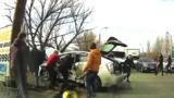 Появилось видео первых минут после ДТП с участием BMW и Toyota
