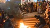 კიევში აქციის მონაწილეებსა და პოლიციას შორის შეტაკებები მოხდა