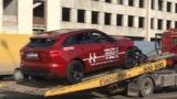 Появились подробности аварии с участием кроссовера Jaguar