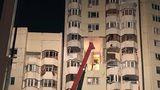Появилось видео эвакуации жильцов сразу после взрыва на Рышкановке