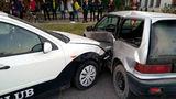 Два автомобиля столкнулись в Дубоссарах