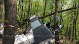 Опубликованы фото и видео потерпевшего крушение вертолета в Яловенах