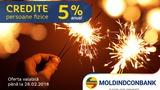 Ofertă de iarnă de la Moldindconbank – credite cu 5%! ®