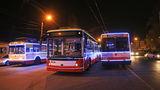 В Одессе прошел парад новогодних троллейбусов