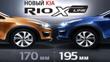 New KIA Rio X-Line – увеличенный клиренс – 195мм ®