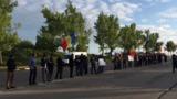 При въезде в столицу протестовали против ареста манифестантов