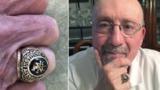 Утерянное в озере кольцо вернулось к своему владельцу через 45 лет
