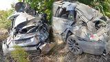 В Трушенах BMW превратился в груду металла, врезавшись в столб и дерево