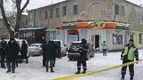 После взрыва в магазине приостановлено движение по улице Матеевича