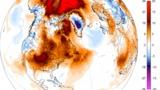 ჩრდილოეთ პოლუსთან ტემპერატურა 20 °C-ით არის მომატებული