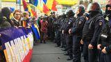 Violenţe la marşul pentru unirea României cu R.Moldova