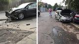 В Кишиневе возле БСМП столкнулись два автомобиля