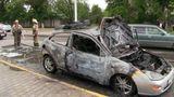 В Тирасполе сгорел автомобиль