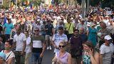 Сторонники Нэстасе и Санду устроили пикет у резиденции президента