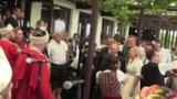 Появилось видео выступления хора казаков на свадьбе главы МИД Австрии