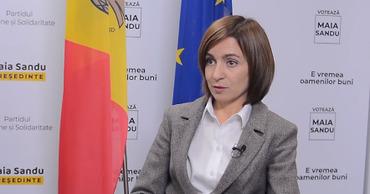 Санду: Молдова не признает долги за российский газ для Приднестровья.
