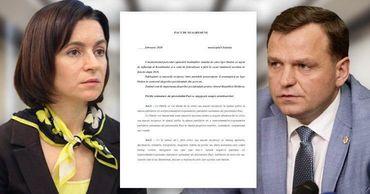 Опубликован текст Пакта о ненападении между ПДС и ППДП. Фото: Point.md