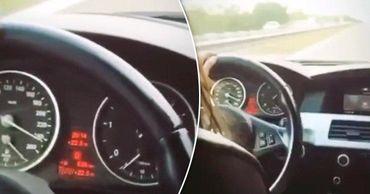 Девушка за рулем BMW разогналась до 240 км в час. Коллаж: Point.md