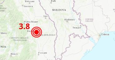 В Румынии ночью произошло землетрясение магнитудой 3,8