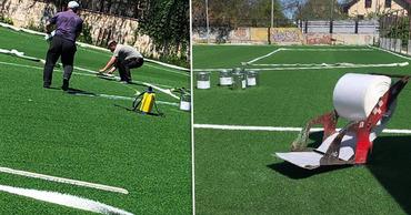Начались работы по обустройству футбольных площадок в ряде школ столицы