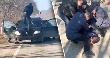 Момент задержания мужчины, расстрелявшего девушек, попал на видео. Коллаж: Point.md