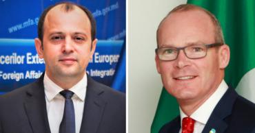 Главы МИД Молдовы и Ирландии обсудили  углубление двусторонних отношений.