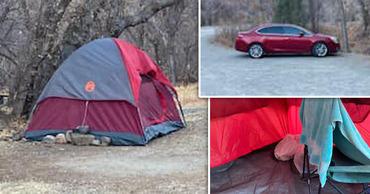Без вести пропавшая американка 5 месяцев жила в палатке, ела мох и траву. Коллаж: Point.md.