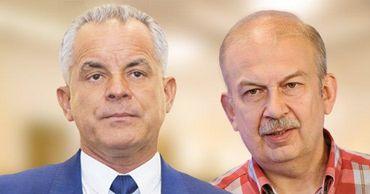 Беглый олигарх Влад Плахотнюк и молдавский политолог Виктор Чобану. Коллаж: Point.md.