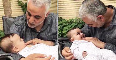 Появилось видео с внуком из личного архива убитого Касема Сулеймани. Фото: Point.md.