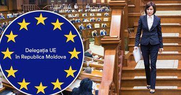 Представительство ЕС в Молдове отреагировало на отставку правительства Санду. Фото: Point.md