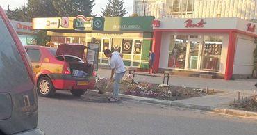 В Новых Аненах таксист самостоятельно ремонтировал дорогу.