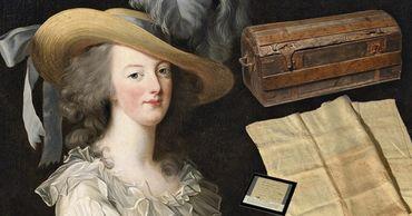 Дорожный сундук и салфетку Марии-Антуанетты продали на аукционе почти за €60 тысяч. Фото: Point.md.
