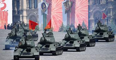 В Москве проходит юбилейный Парад Победы.