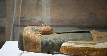 Саркофаг, в котором сохранились фрагменты книги, был сделан около 4 тысяч лет назад.