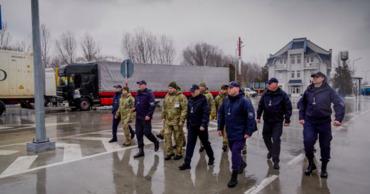 """На совместном КПП """"Паланка-Маяки-Удобное"""" прошла встреча глав Пограничной полиции Республики Молдова и Украины."""