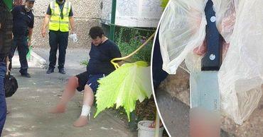 На Ботанике агрессивный мужчина ранил ножом полицейского.