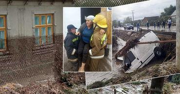 Наводнение в Комрате: есть полностью разрушенные дома. Фото: Генеральный инспекторат по чрезвычайным ситуациям.