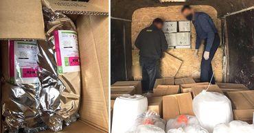 Таможенники задержали контрабанду токсичных веществ на 150 000 леев. Фото: Point.md.