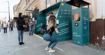 В Румынии установили спортомат, выдающий билеты на автобус за приседания.